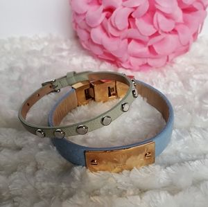 🌸Lot of 2🌸 EUC Leather Fossil Bracelets